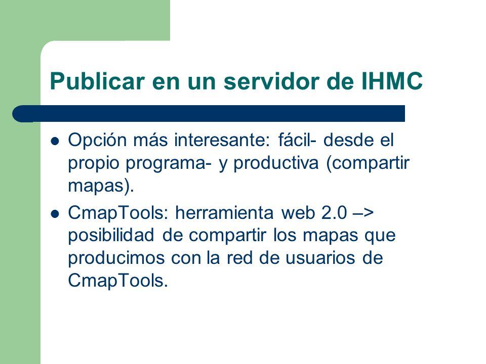 Publicar en un servidor de IHMC