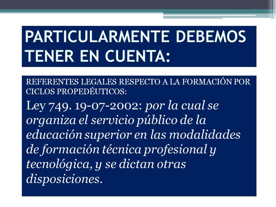 PARTICULARMENTE DEBEMOS TENER EN CUENTA:
