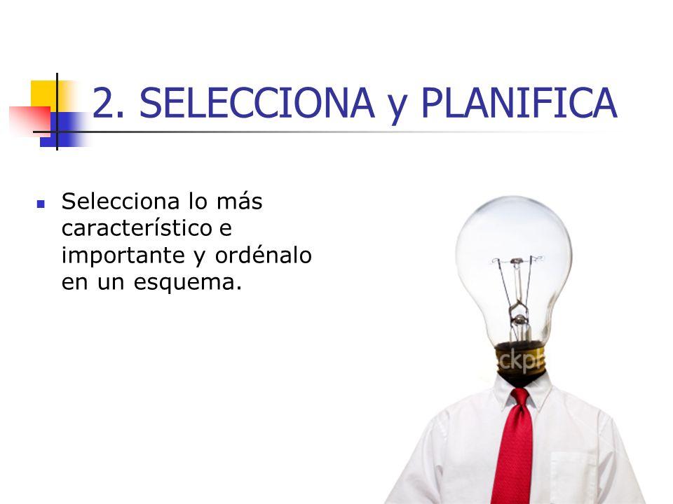 2. SELECCIONA y PLANIFICA