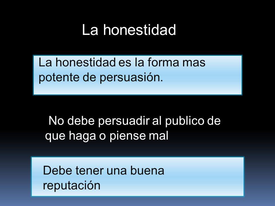 La honestidad La honestidad es la forma mas potente de persuasión.