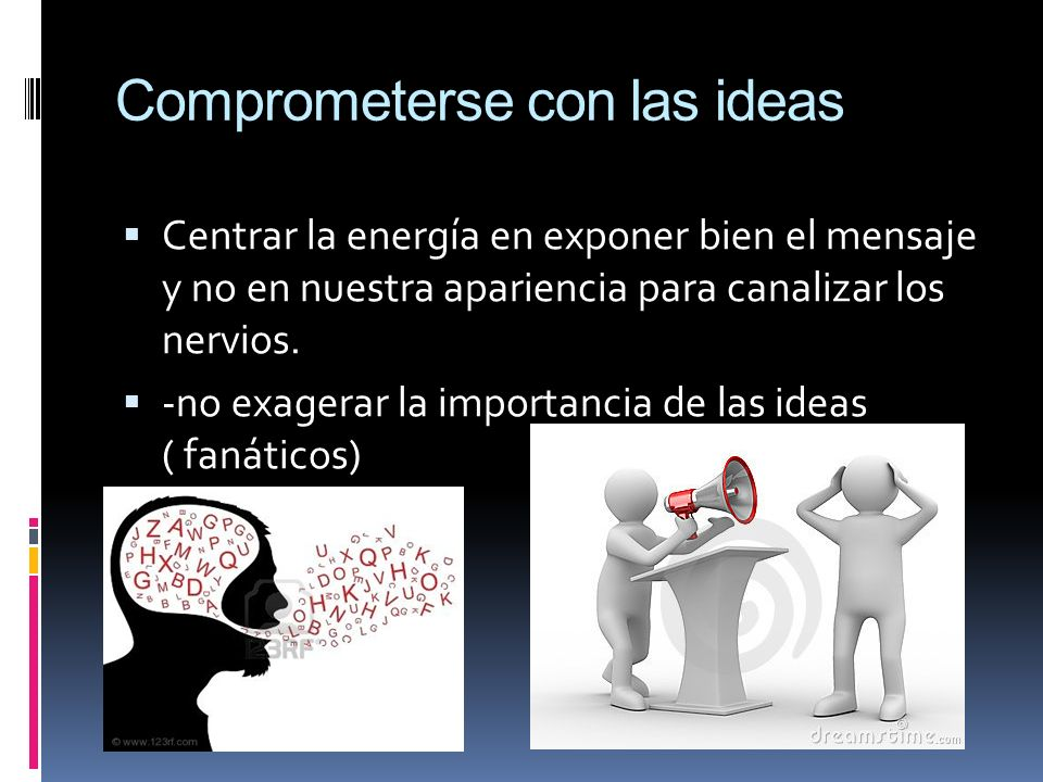 Comprometerse con las ideas