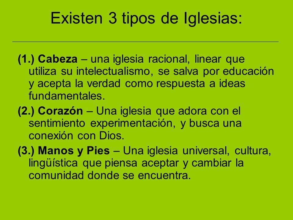 Existen 3 tipos de Iglesias:
