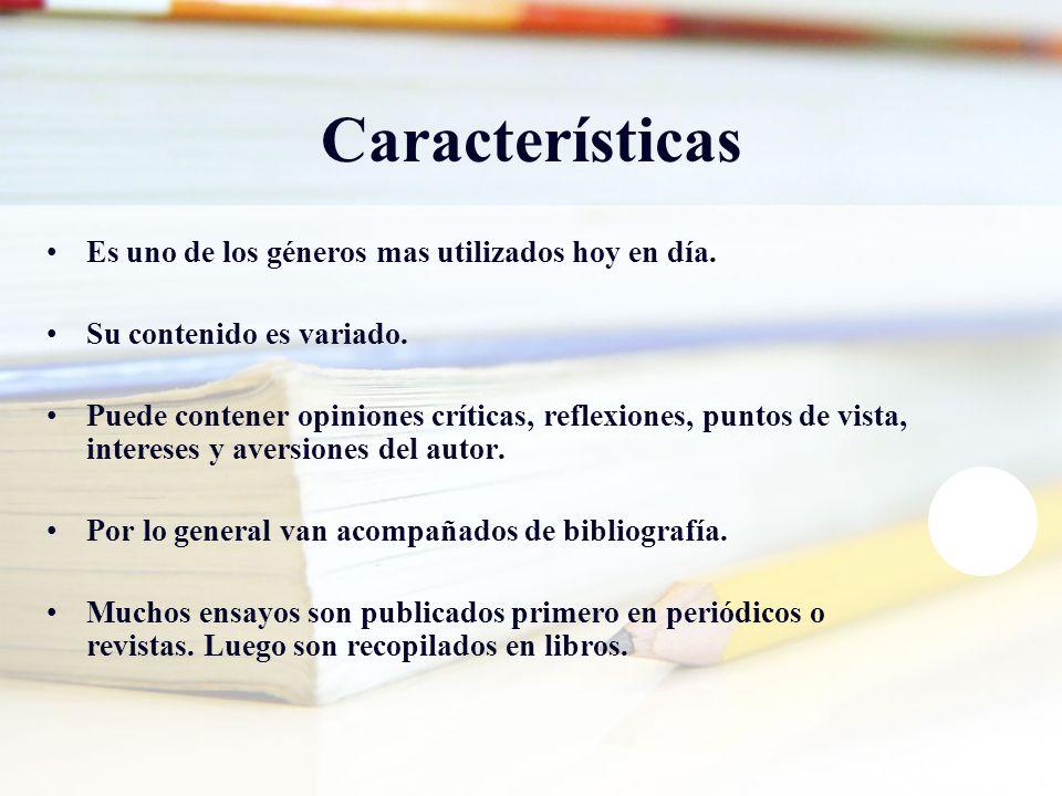 Características Es uno de los géneros mas utilizados hoy en día.