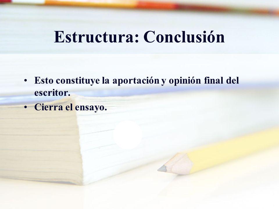 Estructura: Conclusión