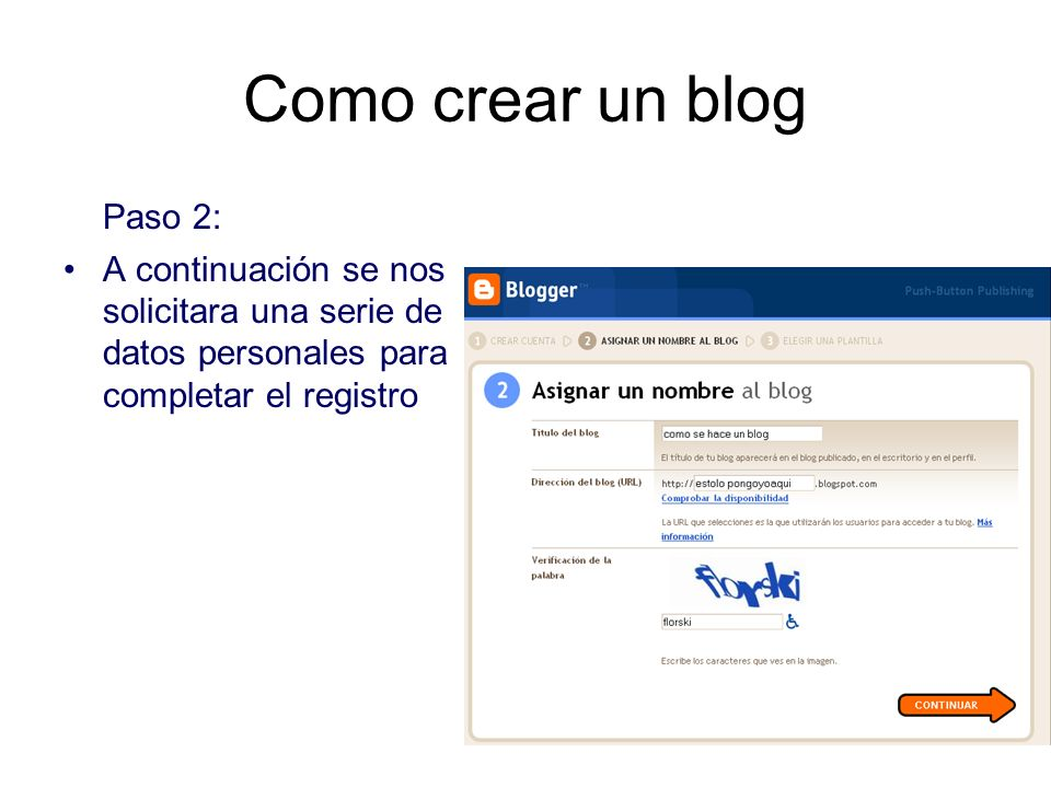 Como crear un blog Paso 2: