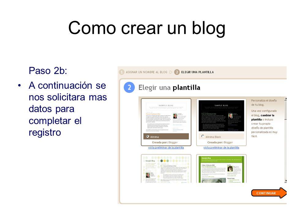 Como crear un blog Paso 2b: