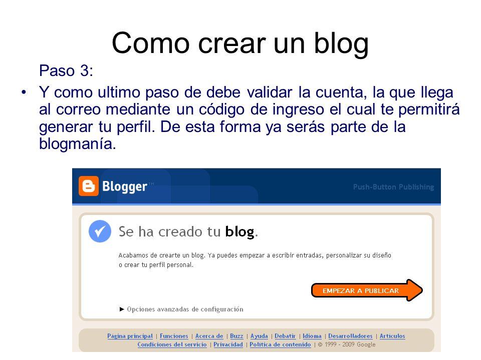 Como crear un blog Paso 3: