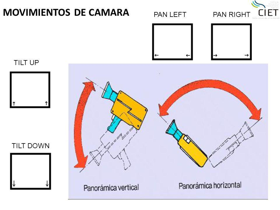 MOVIMIENTOS DE CAMARA PAN LEFT PAN RIGHT TILT UP TILT DOWN