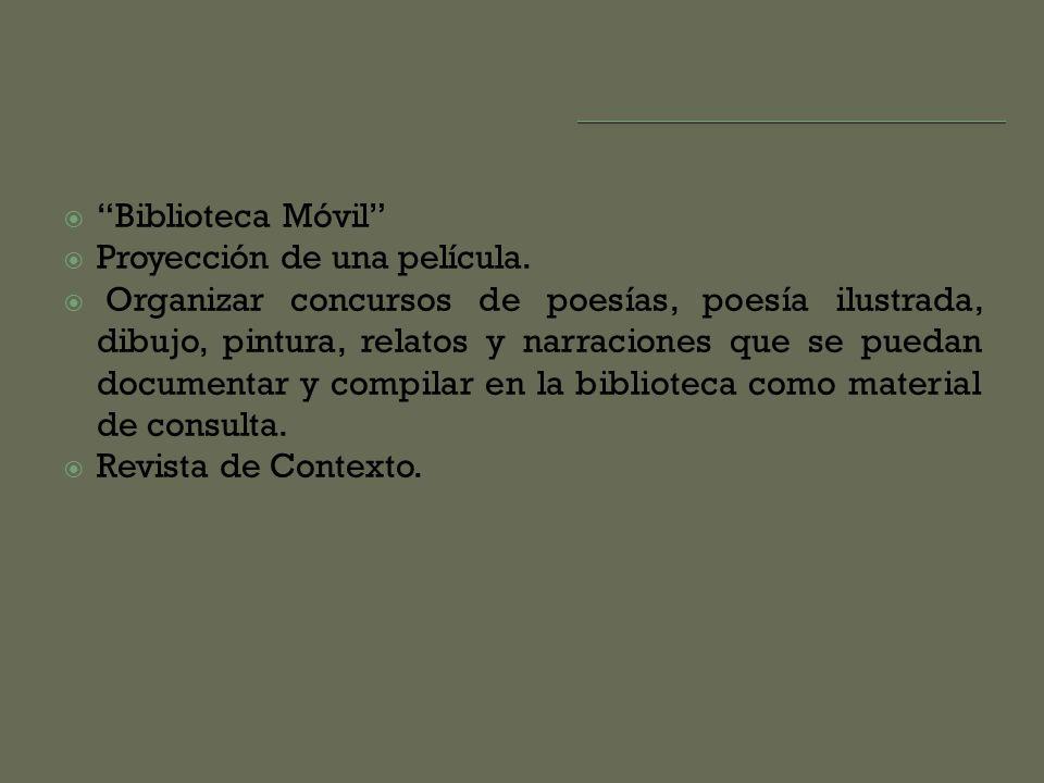 Biblioteca Móvil Proyección de una película.