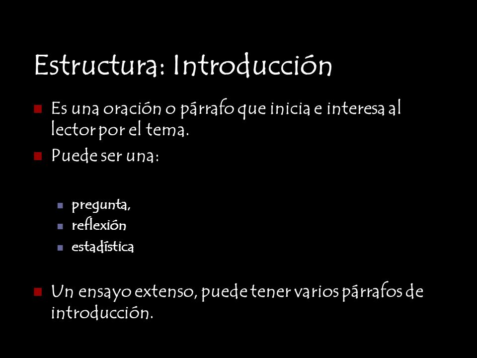 Estructura: Introducción