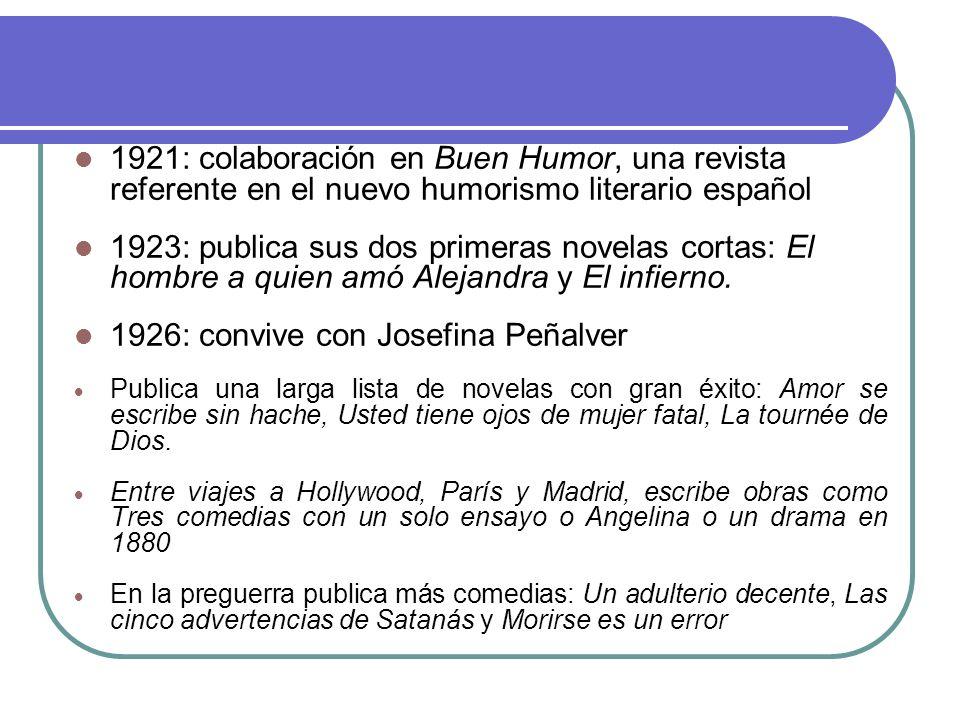 1926: convive con Josefina Peñalver