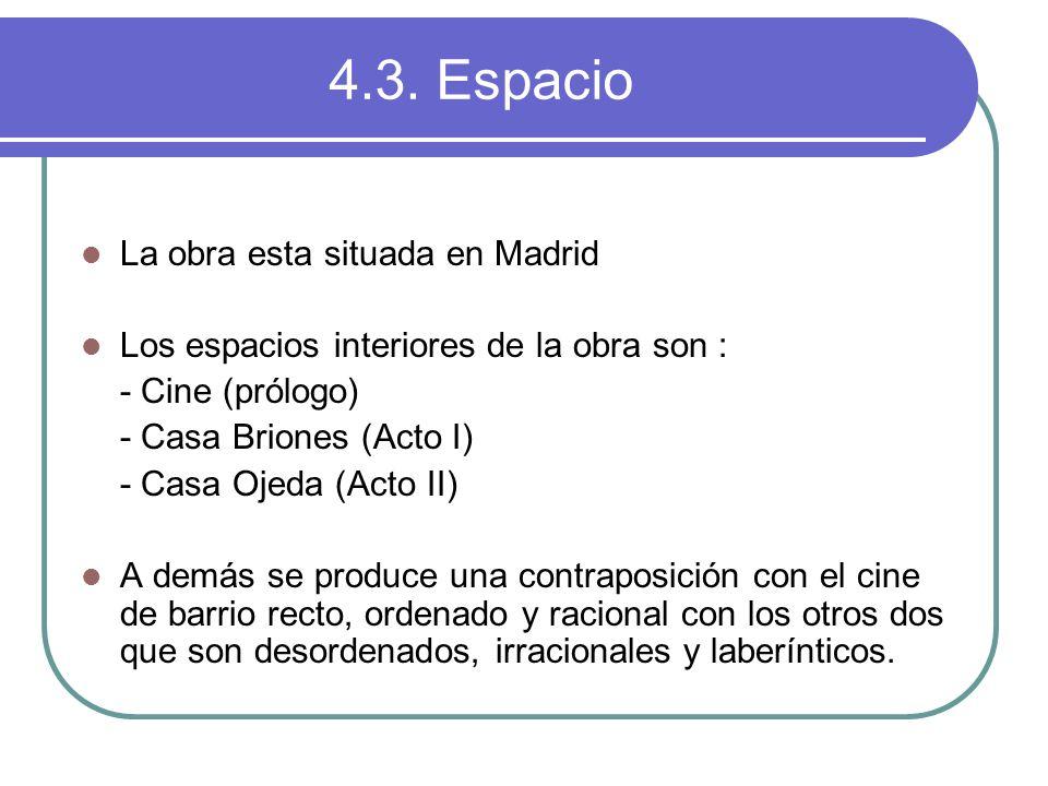 4.3. Espacio La obra esta situada en Madrid