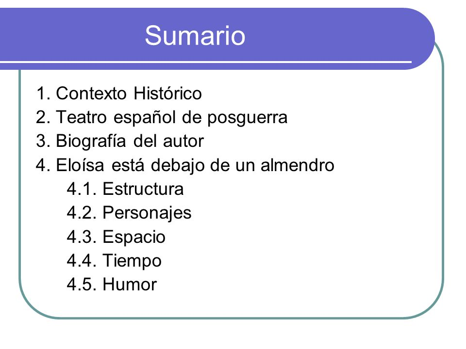 Sumario 1. Contexto Histórico 2. Teatro español de posguerra