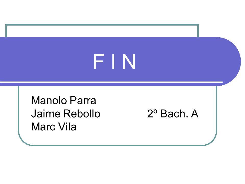Manolo Parra Jaime Rebollo 2º Bach. A Marc Vila