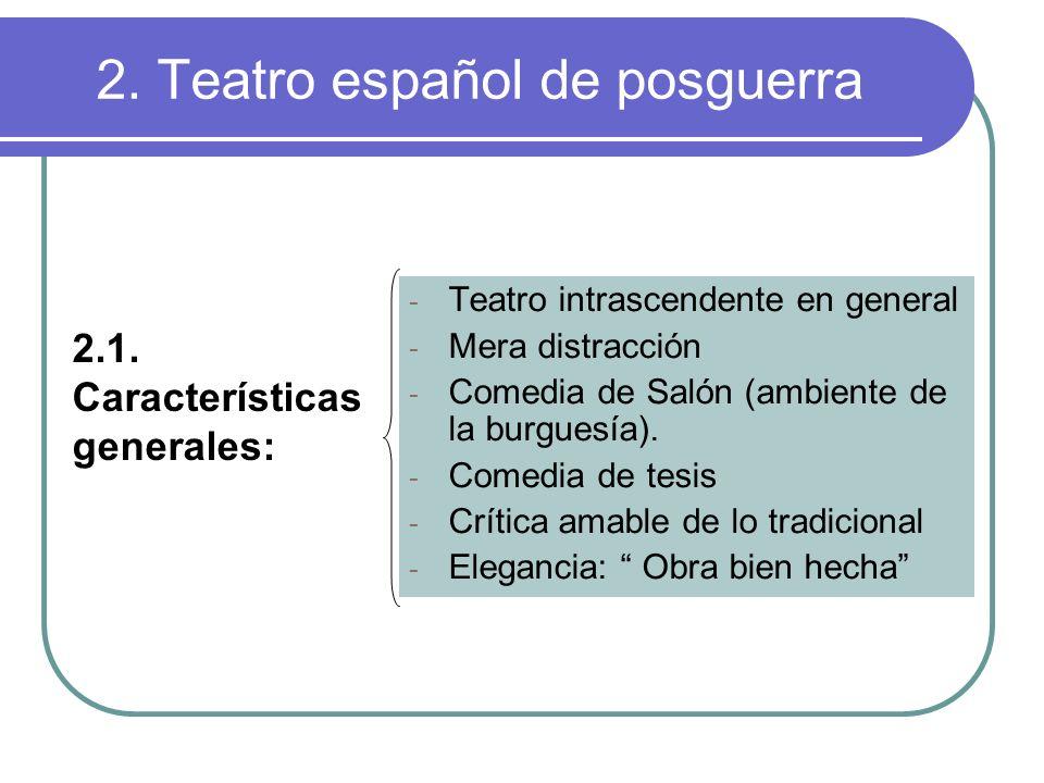 2. Teatro español de posguerra
