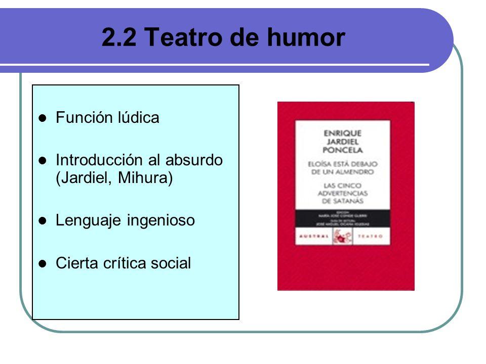 2.2 Teatro de humor Función lúdica