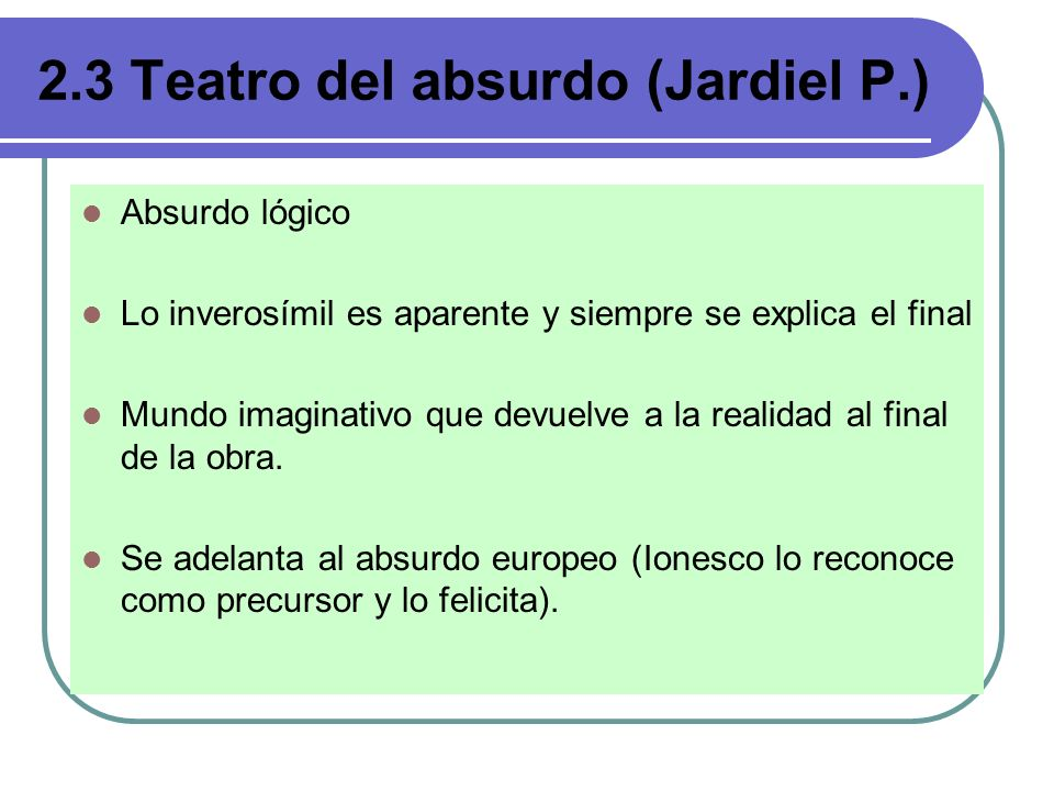 2.3 Teatro del absurdo (Jardiel P.)