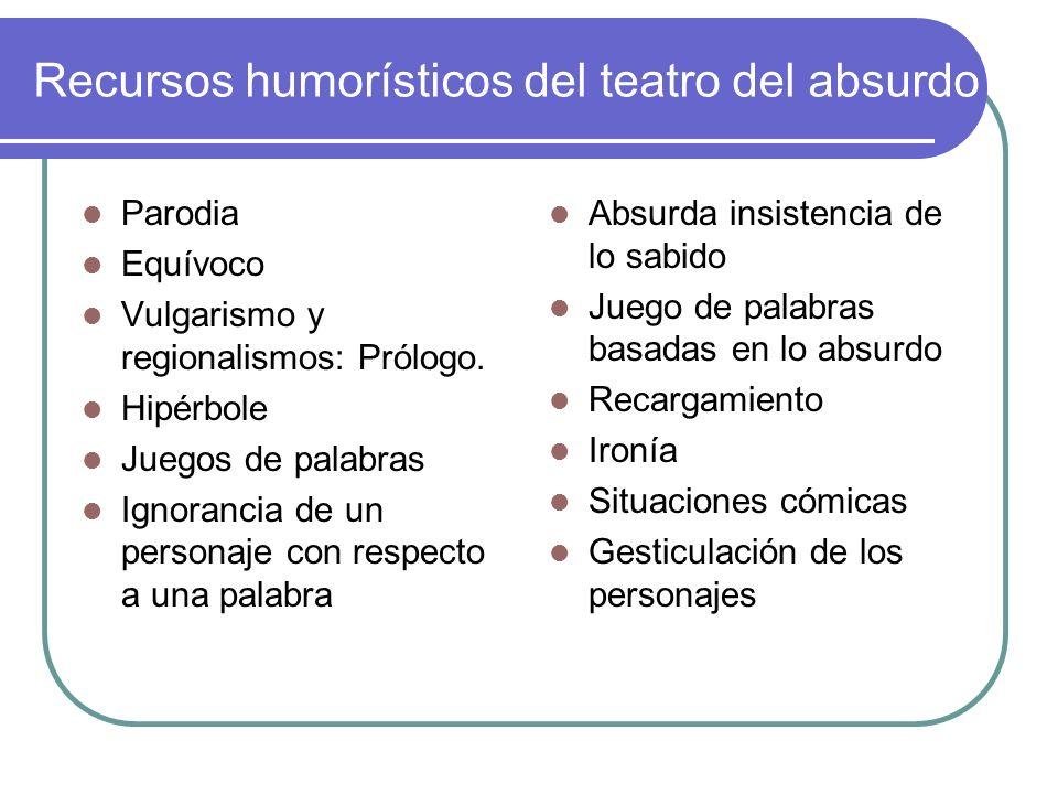 Recursos humorísticos del teatro del absurdo