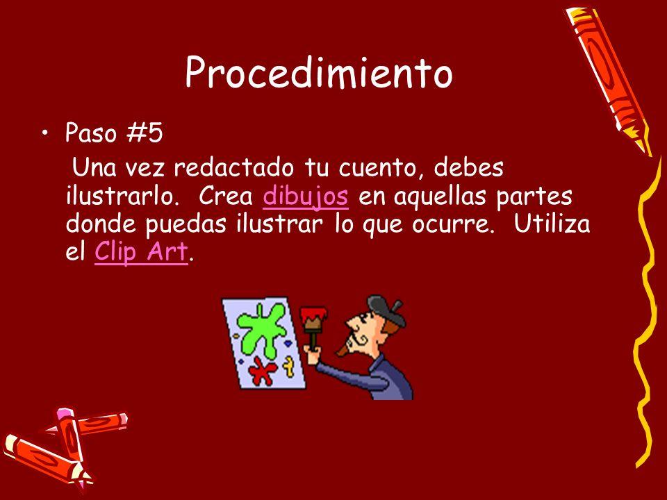 Procedimiento Paso #5.