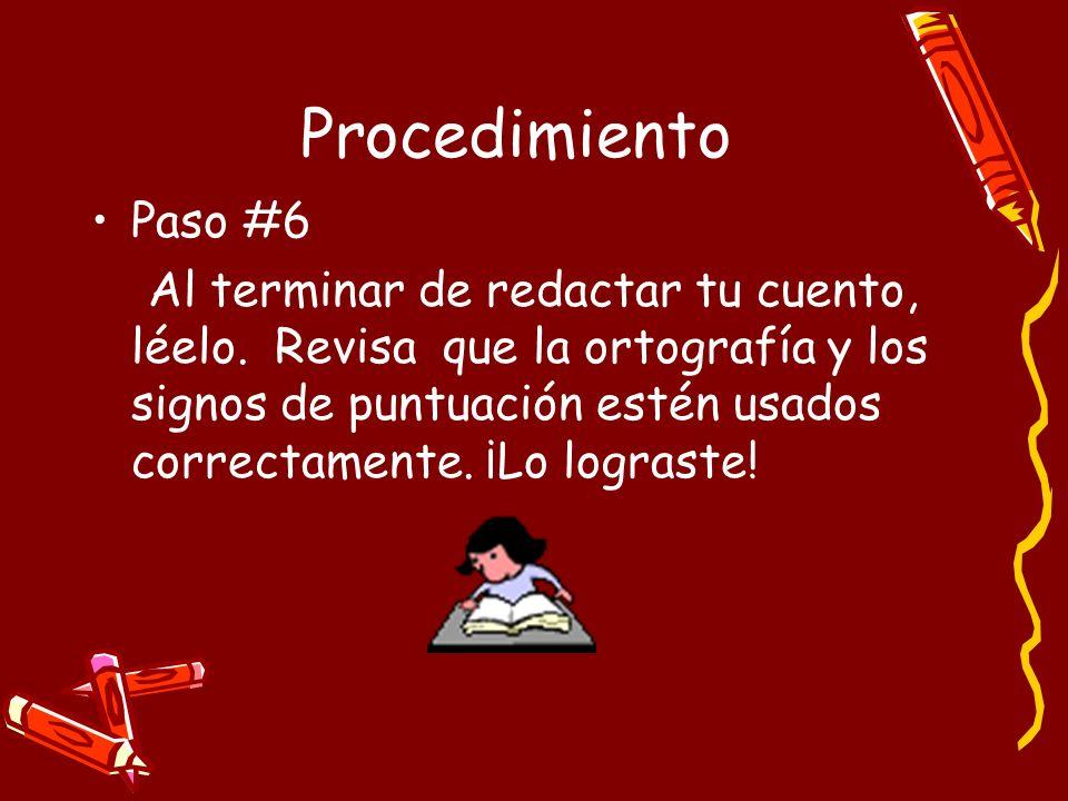 Procedimiento Paso #6.