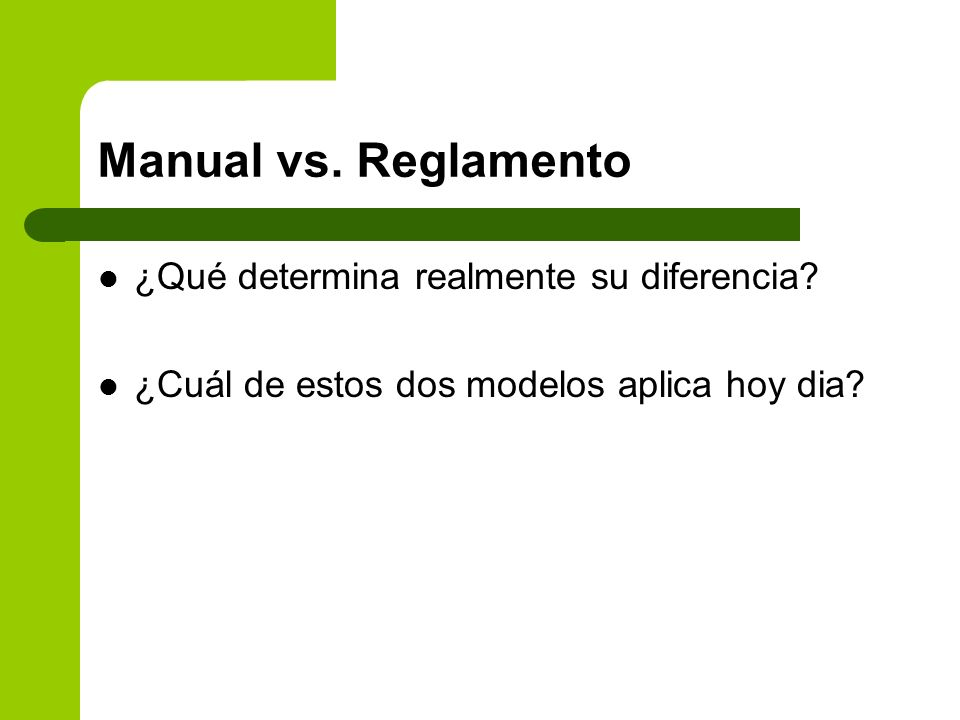 Manual vs. Reglamento ¿Qué determina realmente su diferencia