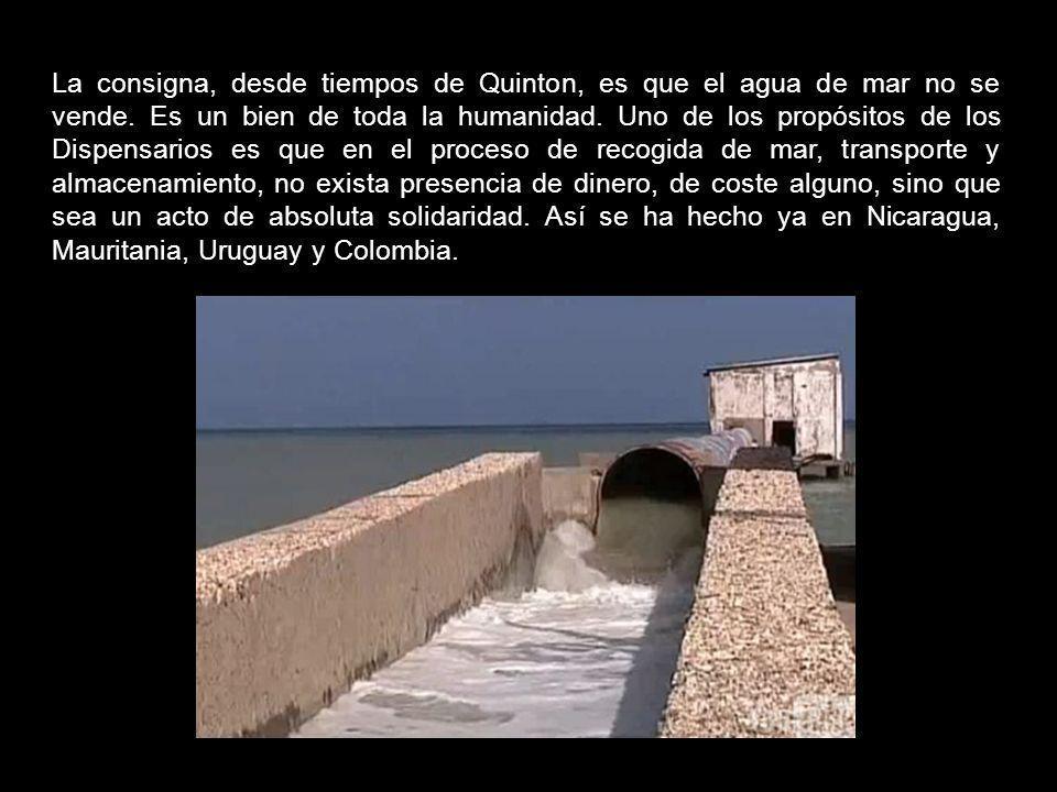 La consigna, desde tiempos de Quinton, es que el agua de mar no se vende.