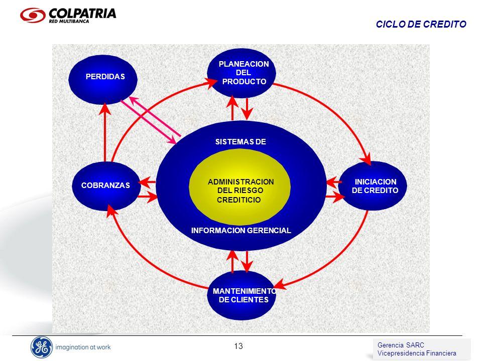 CICLO DE CREDITO PLANEACION DEL PERDIDAS PRODUCTO SISTEMAS DE