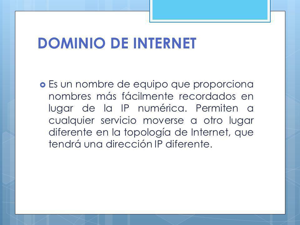 DOMINIO DE INTERNET