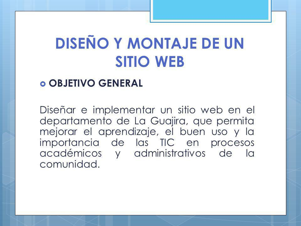 DISEÑO Y MONTAJE DE UN SITIO WEB