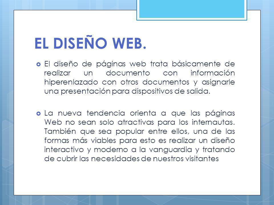 EL DISEÑO WEB.