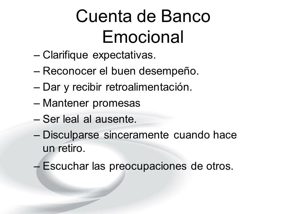 Cuenta de Banco Emocional