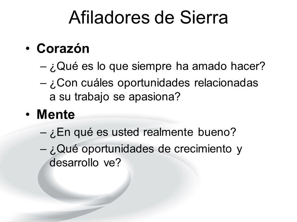 Afiladores de Sierra Corazón Mente
