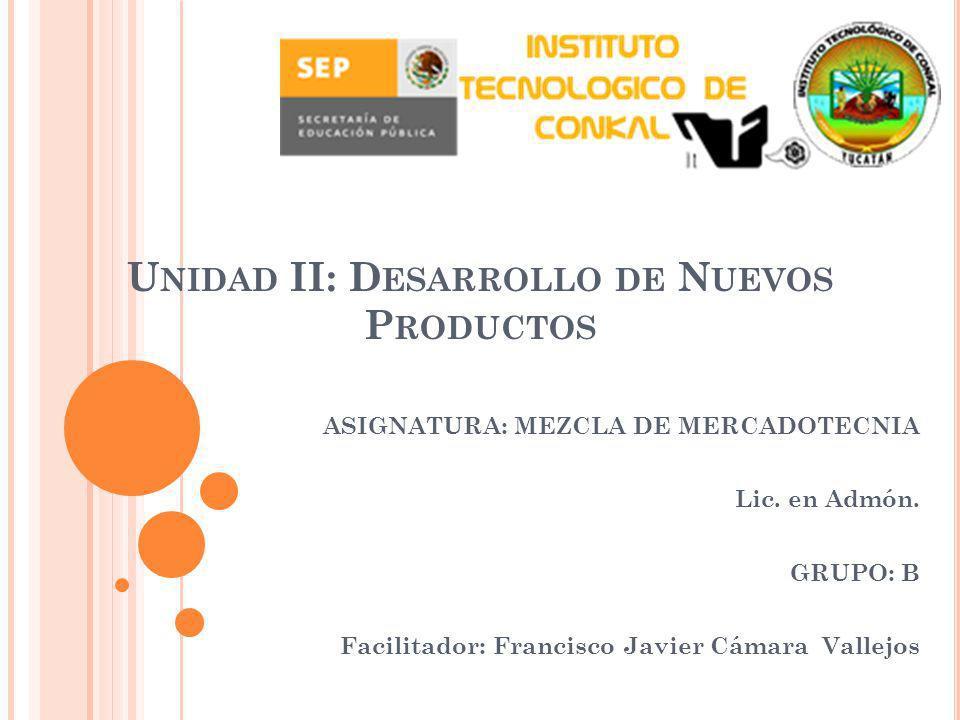Unidad II: Desarrollo de Nuevos Productos