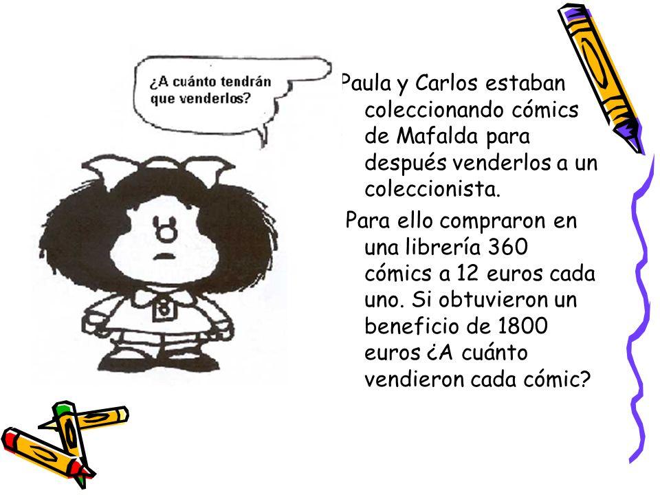 Paula y Carlos estaban coleccionando cómics de Mafalda para después venderlos a un coleccionista.