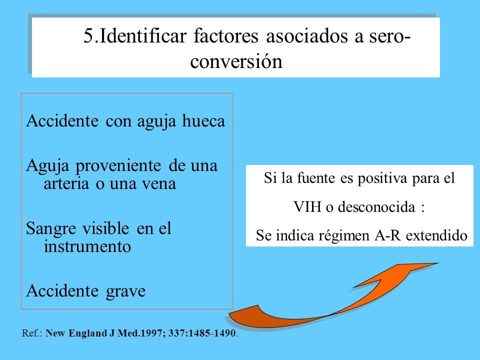 5.Identificar factores asociados a sero-conversión