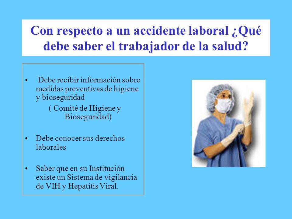 ( Comité de Higiene y Bioseguridad)
