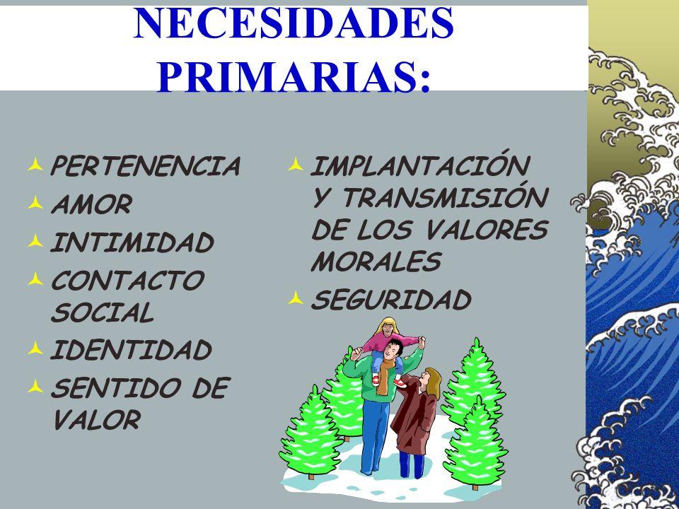 NECESIDADES PRIMARIAS: