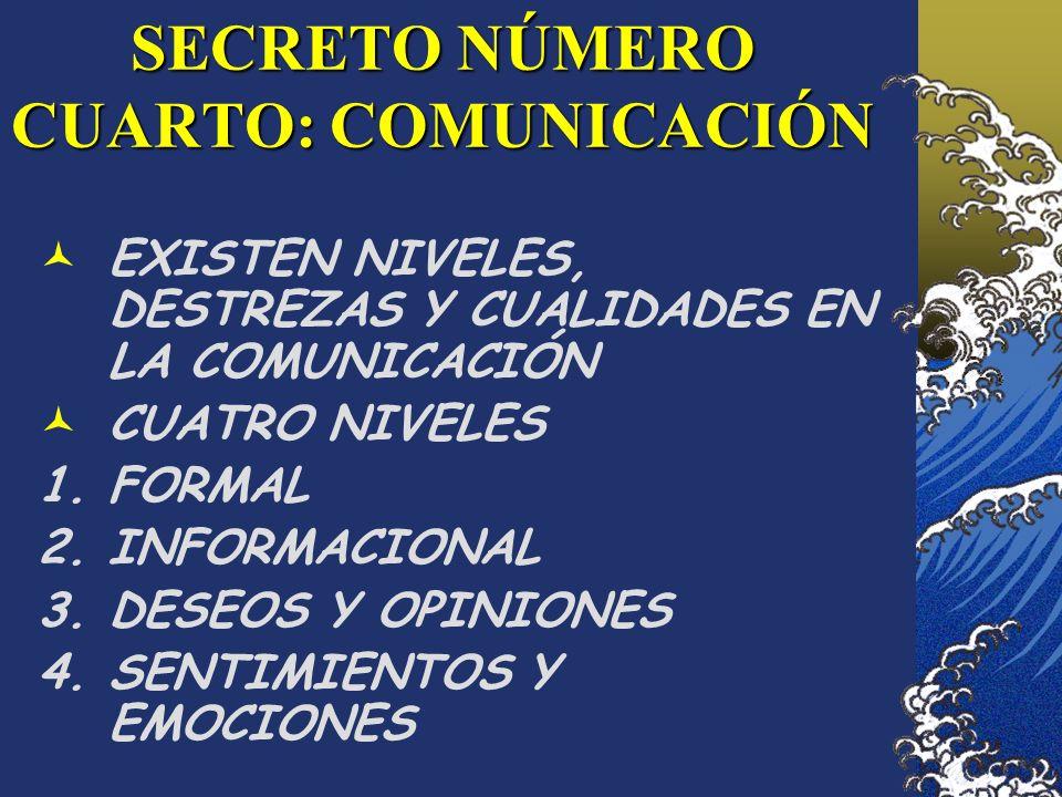 SECRETO NÚMERO CUARTO: COMUNICACIÓN