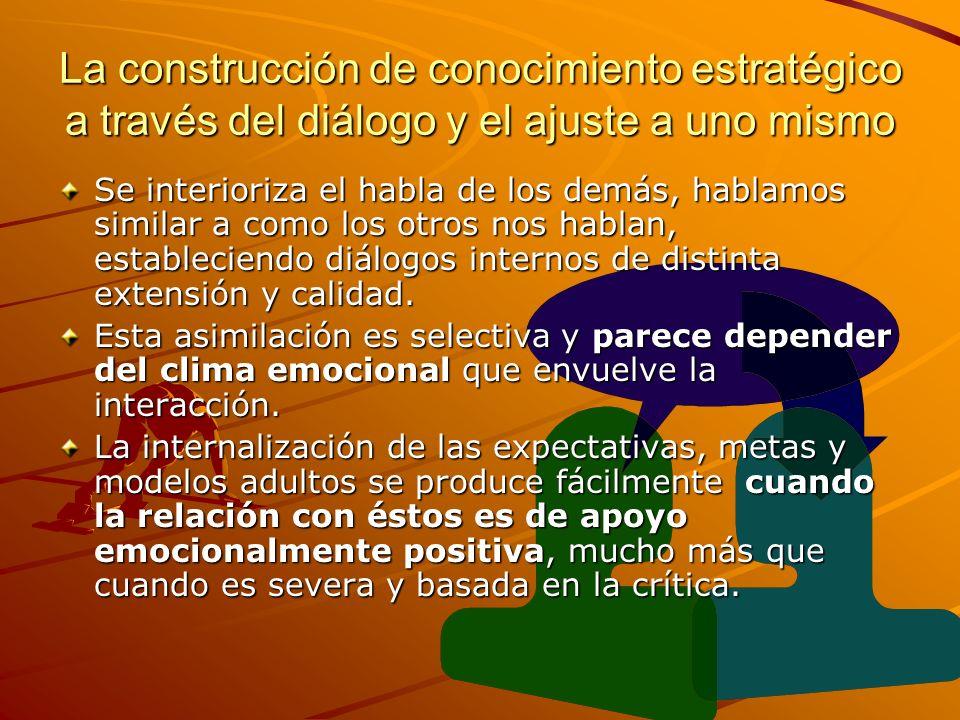 La construcción de conocimiento estratégico a través del diálogo y el ajuste a uno mismo