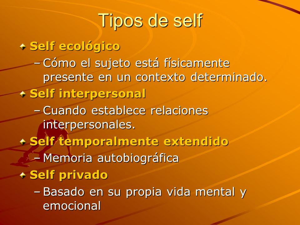 Tipos de self Self ecológico