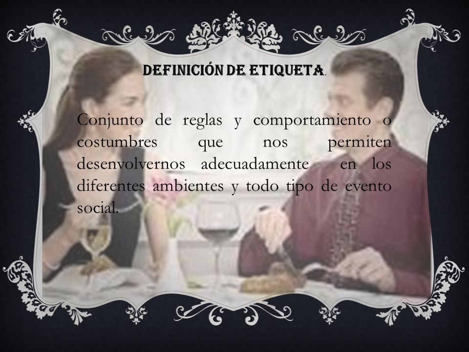 DEFINICIÓN DE ETIQUETA.