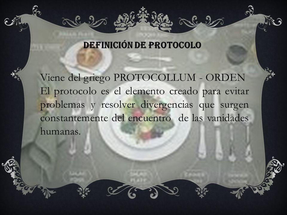 Definición de protocolo