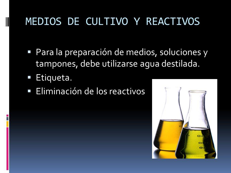 MEDIOS DE CULTIVO Y REACTIVOS