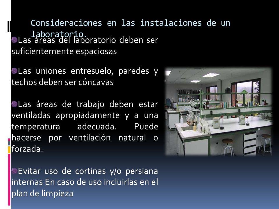 Consideraciones en las instalaciones de un laboratorio.
