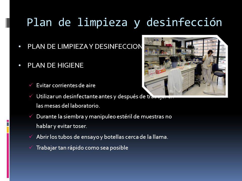 Montaje y operaci n de un laboratorio microbiol gico ppt Metodos de limpieza y desinfeccion en el area de cocina