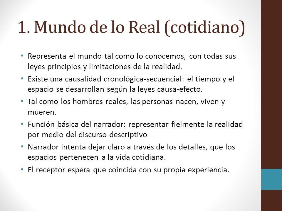 1. Mundo de lo Real (cotidiano)