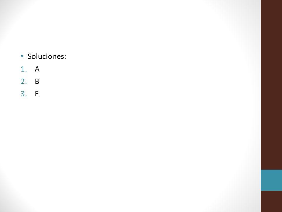 Soluciones: A B E