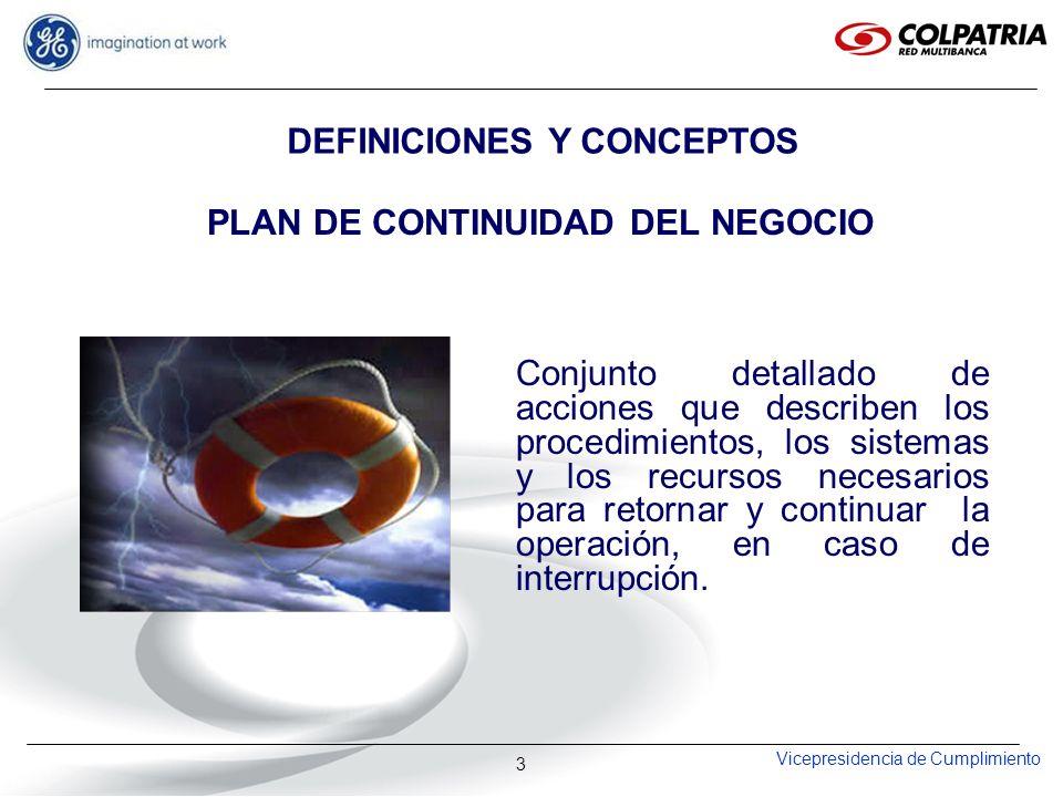 DEFINICIONES Y CONCEPTOS PLAN DE CONTINUIDAD DEL NEGOCIO