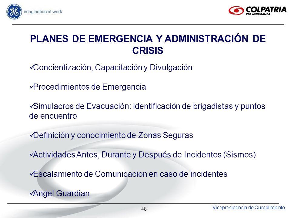 PLANES DE EMERGENCIA Y ADMINISTRACIÓN DE CRISIS