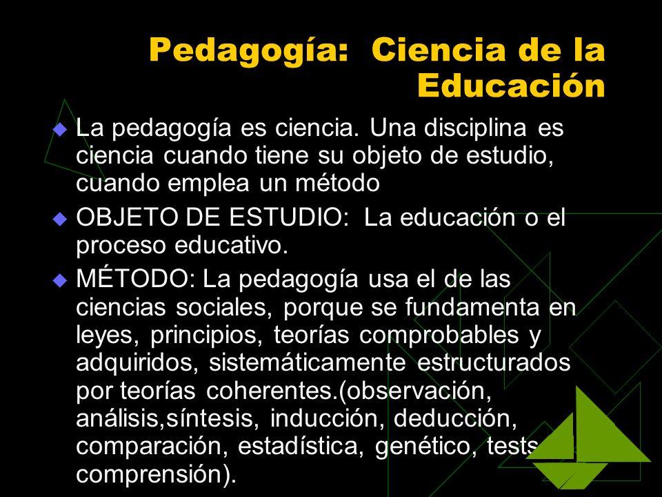 Pedagogía: Ciencia de la Educación